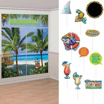 MARGARITAVILLE SCENE SETTER Party Wall Decoration Room Photo Prop Luau Beach