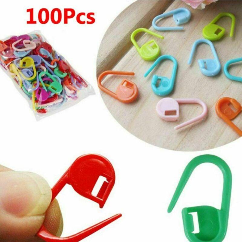 100PCS Amazing Knitting Crochet Locking Stitch Needle Clip Markers Holder Tool