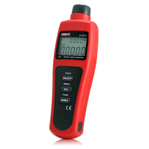 UT372 Digital Tachometer Non-Contact Laser Rotate Speed Measuring 99999RPM USB