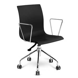Free Delivery: Modern Office Chair with Armrests Black Homebush Strathfield Area Preview