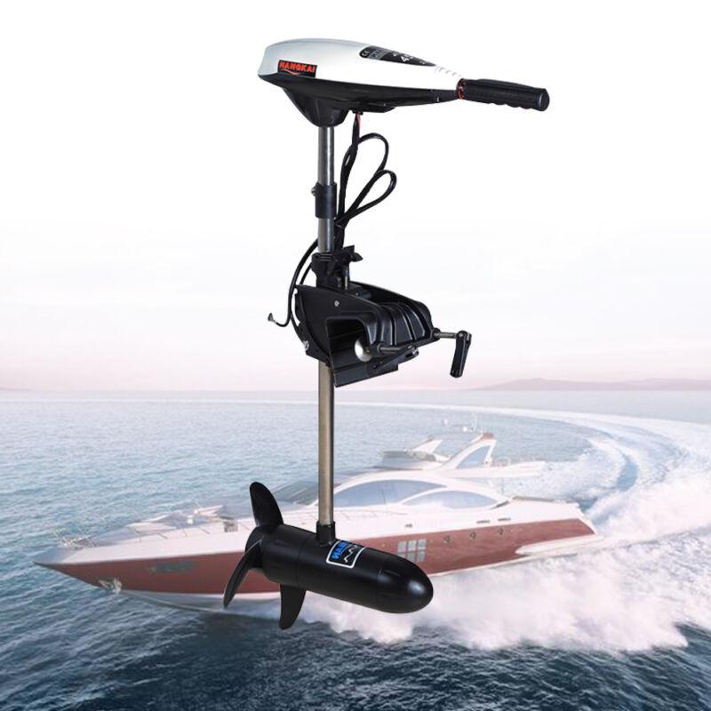 12V 45LB Electric Boat Engine Outboard Motor Trolling Propeller 552W HANGKAI