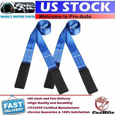 2 Pack 6 X 2 Heavy Duty Nylon Lifting Sling Flat Tow Strap Web Lift Eye Eye