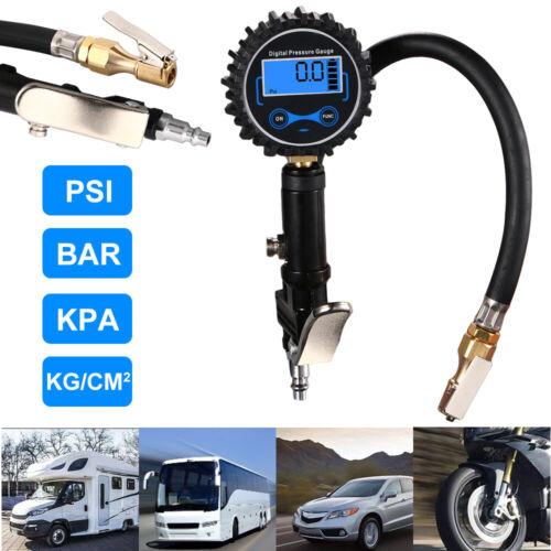 Digital Tire Inflator Pressure Gauge 200 PSI for Car Truck RV Motorcycle Bike ▽