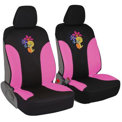 Waterproof Sassy Tweety Bird Cartoon Character Front Car Seat Covers (Pair)