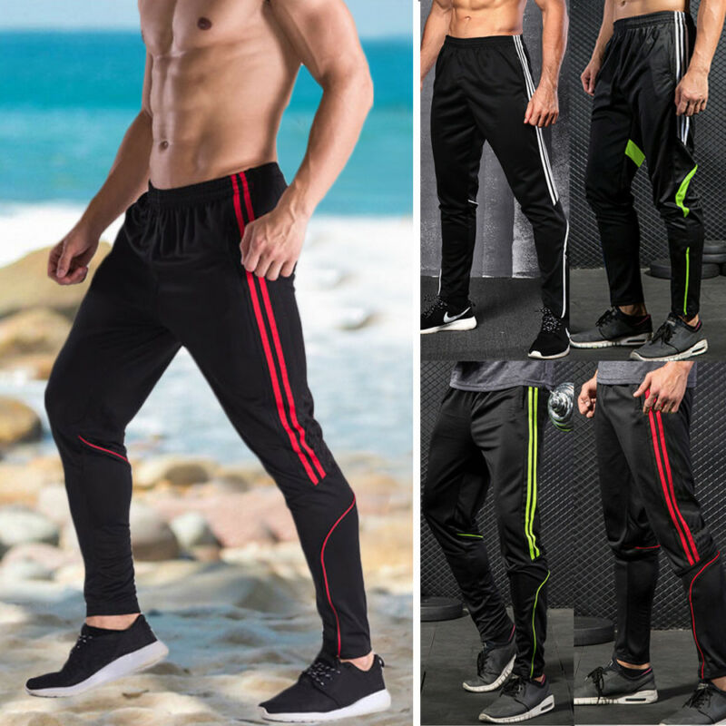 Men Sports Pants Long Trousers Tracksuit Fitness Workout Jog