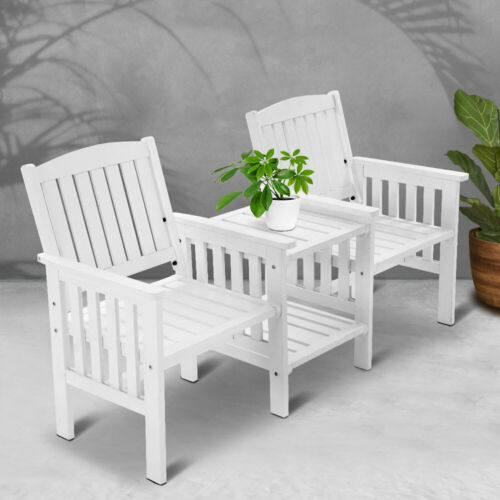 Garden Furniture - Jack & Jill Garden Bench Seat & Table 2 Seater Outdoor Furniture Patio Chair