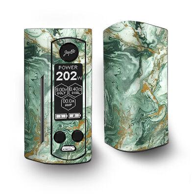 Skin Decal for Wismec Reuleaux RX Gen3 Dual Vape / Marble Paint Swirls green