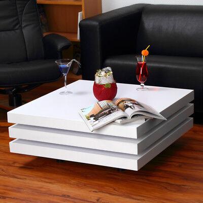 Couchtisch Beistelltisch Sofatisch Kaffeetisch Wohnzimmertisch weiß Tisch ()