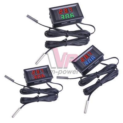 Dc4-28v Thermometer 0.28 Led Display Dual Digital Temperature Sensor Ntc Probe