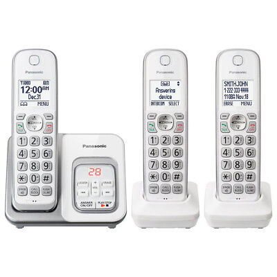 Panasonic KX-TGD533W Cordless Phone with LCD Screen & Answering Machine in White