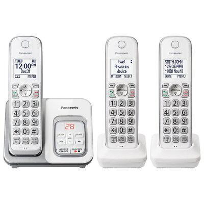 Panasonic KX-TGD533W Cordless Phone with LCD Screen & Answering Machine in White