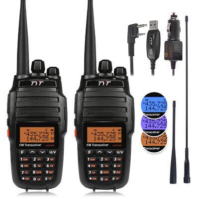 2 x TYT UV8000E Dual Band 3600mAh 10W HP Two-way Ham Radio T