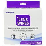 Pure-Aid Eye Glasses & Camera Lens Wipes, 100ct