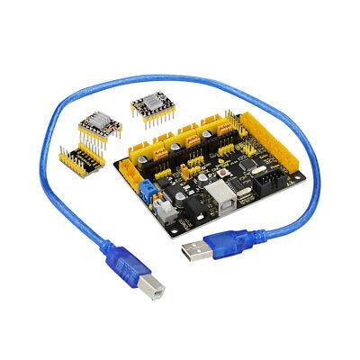 Keyestudio Mega328p Cnc Grbl Microcontroller Board A4988 Kit For Arduino Shield