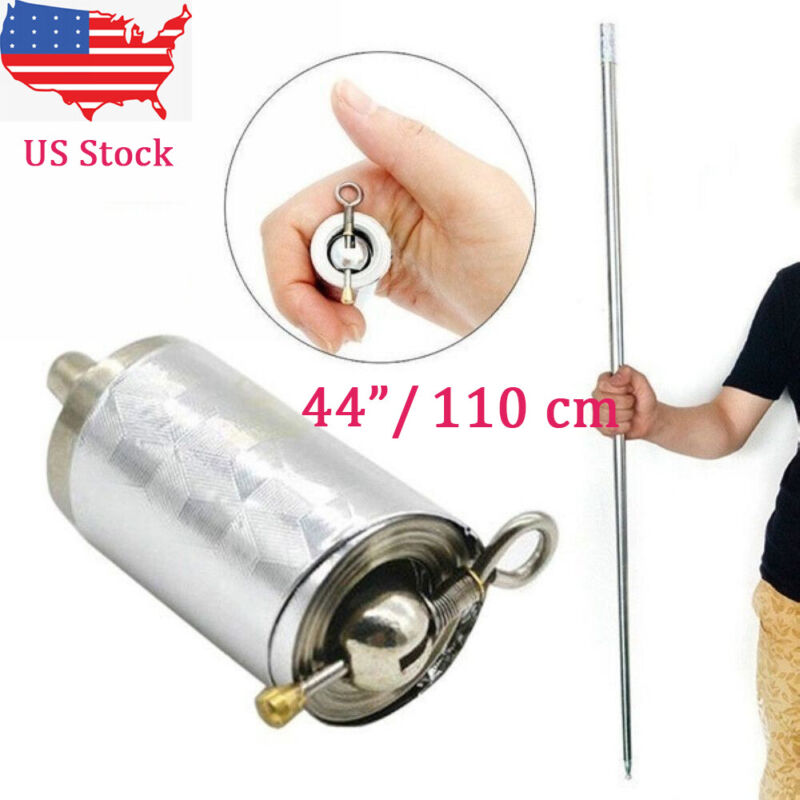 "On Sales! New 110cm/44"" Silver Metal Portable Magic Pocket Telescopic Rod Staff"