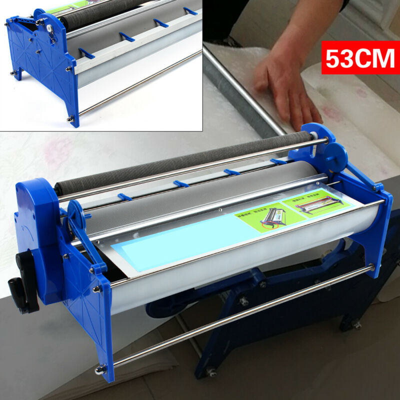 53cm Wallpaper gluing machine w/ 8L groove coater Wallpaper Paste for 5-7 Roller