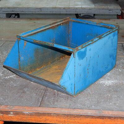 Steel Stackable No. 4 Stackbin Hopper Bin Storage Bin 21x12x9 Parts Organizer