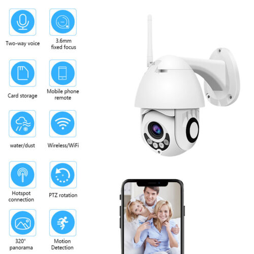 1080P HD Wireless WIFI IP Camera Security WHITE Outdoor CCTV Home