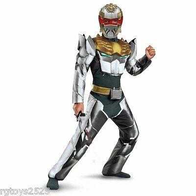 Power Rangers Megaforce Robo Knight Muscle Costume 4-6 Small New Child Halloween](Power Ranger Megaforce Halloween)