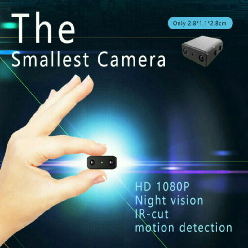 HD 1080P Mini Hidden Spy Camera Security Motion Detection Night Vision Nanny Cam