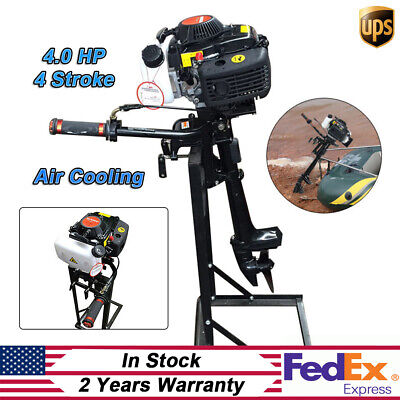 4HP 4 Stroke Outboard Motor Sailboat Boat Engine with Air Cooling System CDI USA