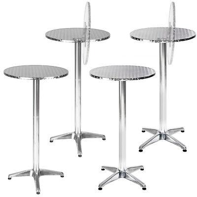 Stehtisch ALU 2in1 höhenverstellbar Bistrotisch Bartisch Garten Tisch rund neu ()