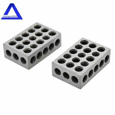 1 Matched Pair Ultra Precision 1-2-3 Blocks 23 Holes .0001 Machinist 123 Jig
