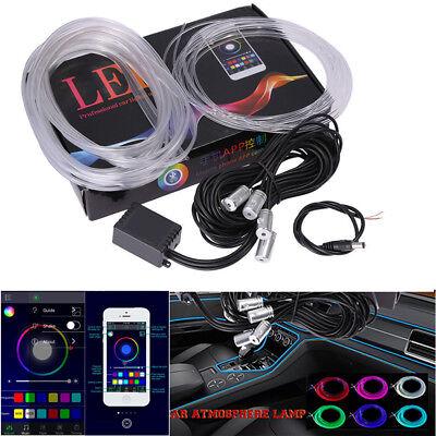 Waterproof Light RGB LED Car Interior Neon Strip Sound Bluetooth Phone Contrl 6M