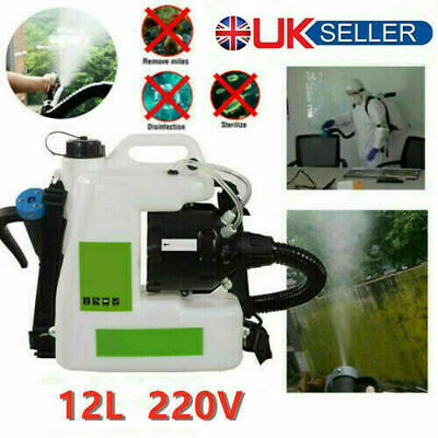 12L Backpack Electric ULV Fogger Sprayer Cold Fogging Machine 220V 1200W UK