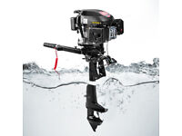 4 Stroke 6HP Gasoline Outboard Motor Fishing Boat Engine Air Cooling Hand Pull