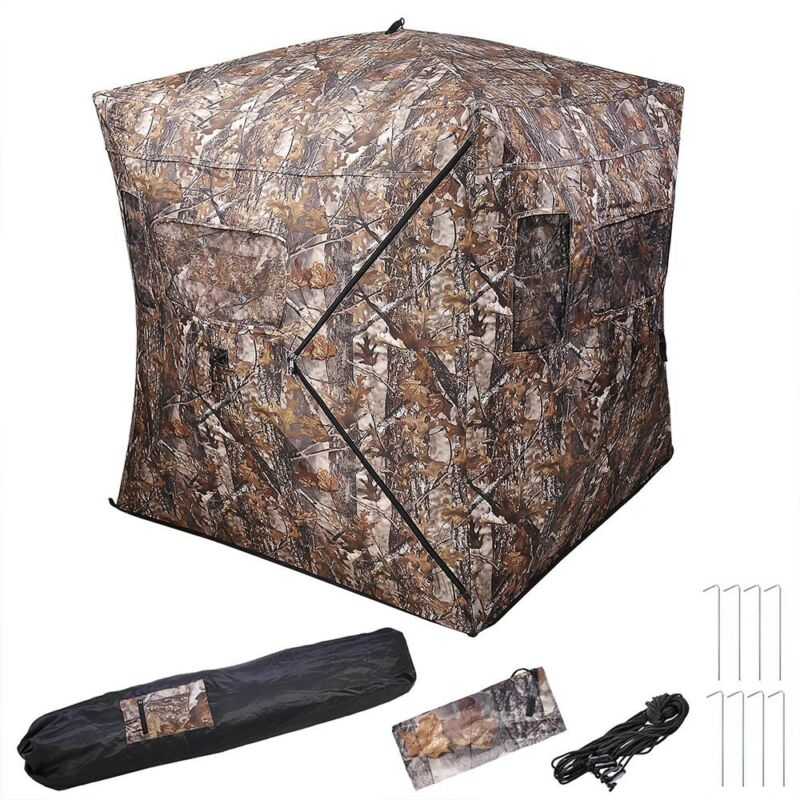 Portable Ground Hunting Blind Deer Hunting Camouflage Archery Hunter Pop Up Tent