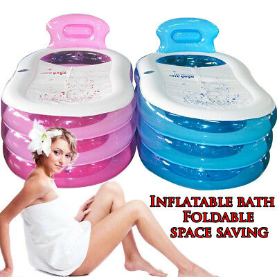 US Adult PVC Folding Portable Inflatable Bathtub SPA Bath Tub Traveling](Inflatable Bath Adult)