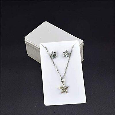 Gbstore 100 Pcs White Earring Necklace Display Card Holder Blank Kraft Paper Diy