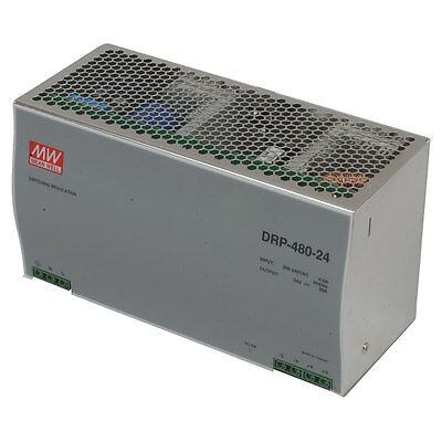 Mean Well Drp-480-24 Ac To Dc Din-rail Power Supply 24 Volt 20a 480 Watt