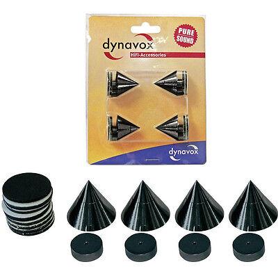 Dynavox Sub-Watt-Absorber Spikes 4er Set Lautsprecher Boxen-Füße Schwarz 12396