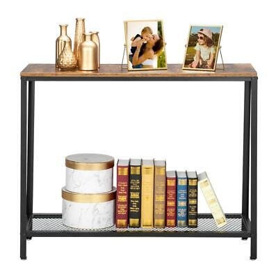 2 Tiers Entryway Console Table Side Sofa Accent End Living Room Storage Shelf
