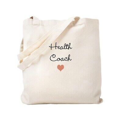 CafePress Health Coach Natural Canvas Tote Bag, Cloth Shopping Bag (1334980487) Bag Health Tote Bag