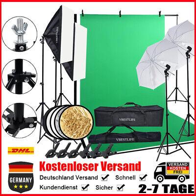 Profi Fotostudio Set Softbox Studioleuchte Studiosets Hintergrundsystem 220 V PE