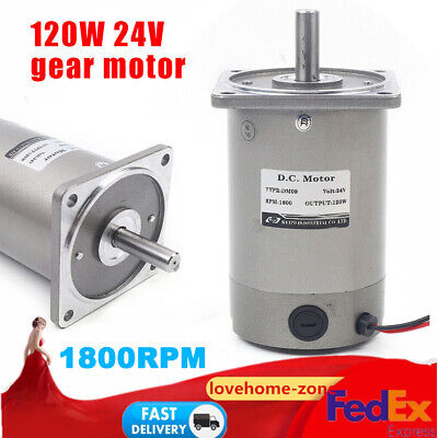 120w 24v Electric Gear Motor Variable Speed Controller 11 Ratio 1800rpm Speed