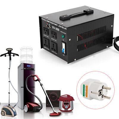 Voltage Converter Transformer 110v220v Step-up Step-down 5 Outletsusb 3000w
