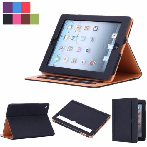 New Soft Leather Wallet Smart Case Cover Sleep / Wake Stand for APPLE iPad