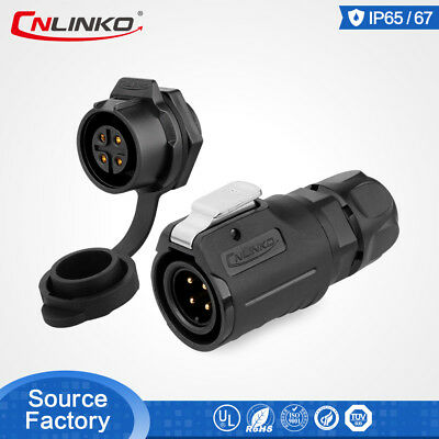 Waterproof Ip67 Connector M16 Series 4pin Electrical 10a Panel For Video Camera