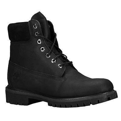 "Timberland 6"" Premium Waterproof Men's Boots Black - Size 9.5 Wide 2E"