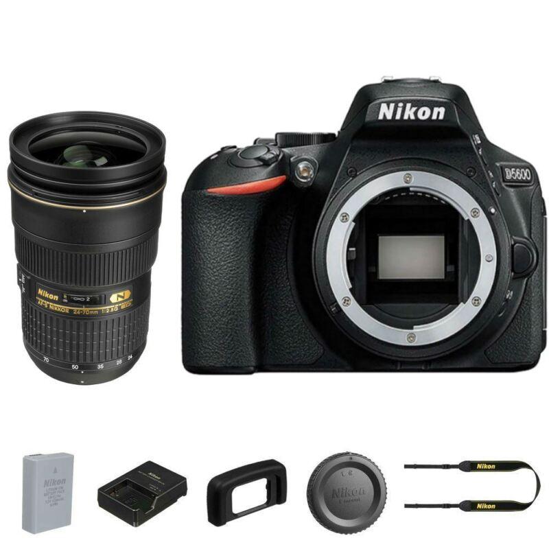 Nikon D5600 Dslr Camera (body Only) + Af-s Nikkor 24-70mm F/2.8g Ed Lens