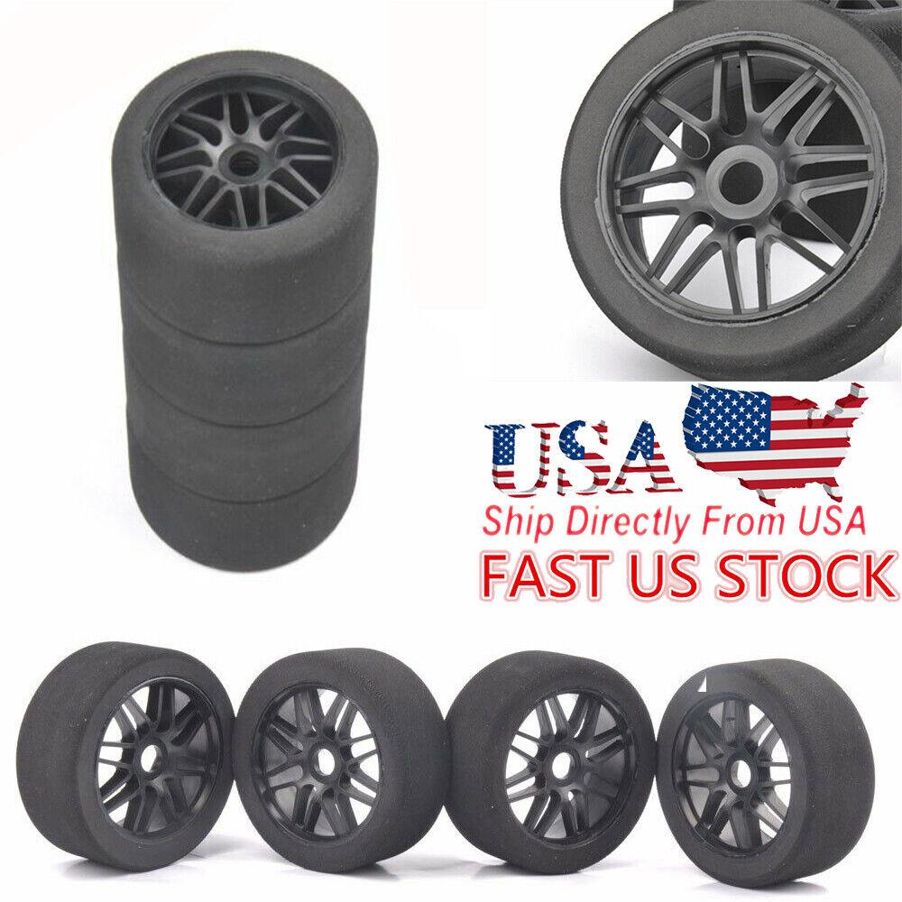 US 4pc 1/8 RC Racing Cars 105mm Foam Tires Wheel Rims Set 17