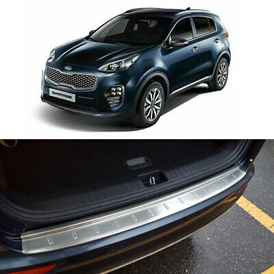 Stainless Rear Trunk Bumper Pad for 2017 2020 Kia Sportage