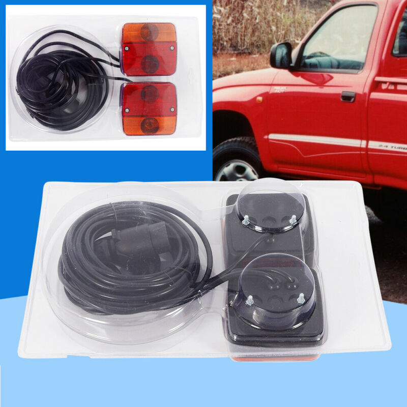 7.5m Cable Magnetic Trailer Towing Lights Rear Tail Board Lamps Stop Car Van