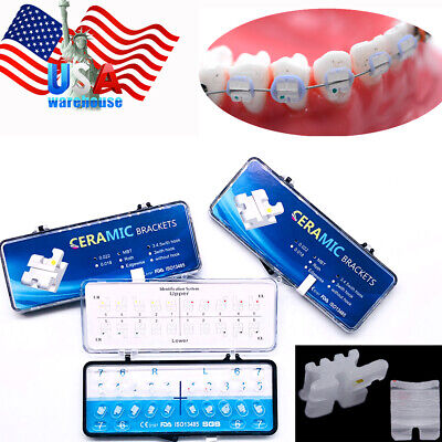 Dental Braces Orthodontic Brackets Ceramic Clear Sapphire Ligature Ties Mini Mbt