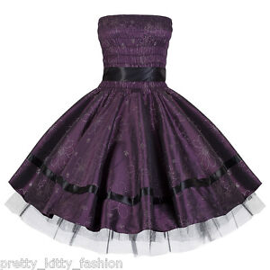 PRETTY-KITTY-PROM-PURPLE-BRIDESMAID-ROCKABILLY-FLORAL-EVENING-SWING-DRESS-10-20
