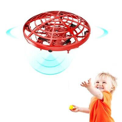 Mini Drone Quad Induction Levitation Hand Operated Helicopter UFO Toy Red Gift